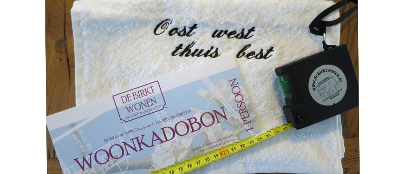 Wooninterieurworkshop kadobon met handdoekje